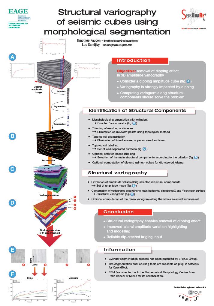 Eage Petroleum Geostatistics 2007 Cascais Portugal : Structural Variography Of Seismic Cubes Using Morphological Segmentation