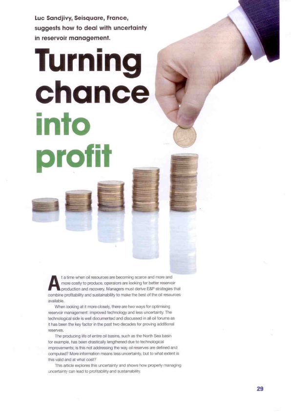 Oilfield Technology September 2011 Turning Chance Into Profit