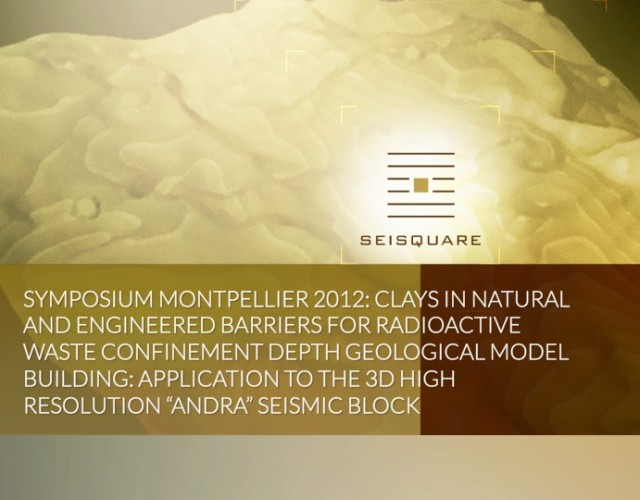 "Symposium Montpellier 2012: Clays In Natural And Engineered Barriers For Radioactive Waste Confinement Depth Geological Model Building: Application To The 3d High Resolution ""Andra"" Seismic Block"