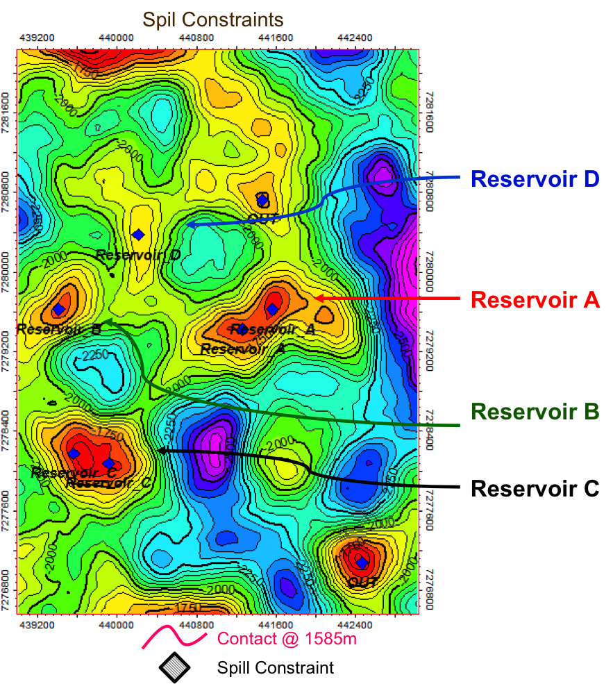 Solution 2: 4 possible reservoirs to explore