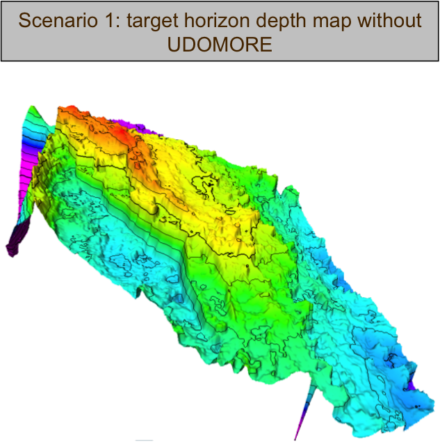 Scenario 1: Target Horizon Depth Map without UDOMORE