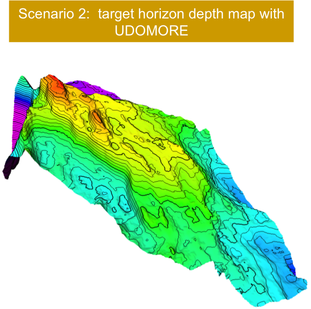 Scenario 2: Target Horizon Depth Map With UDOMORE